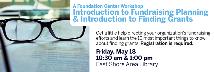 Grant Seeking Workshop may 2018