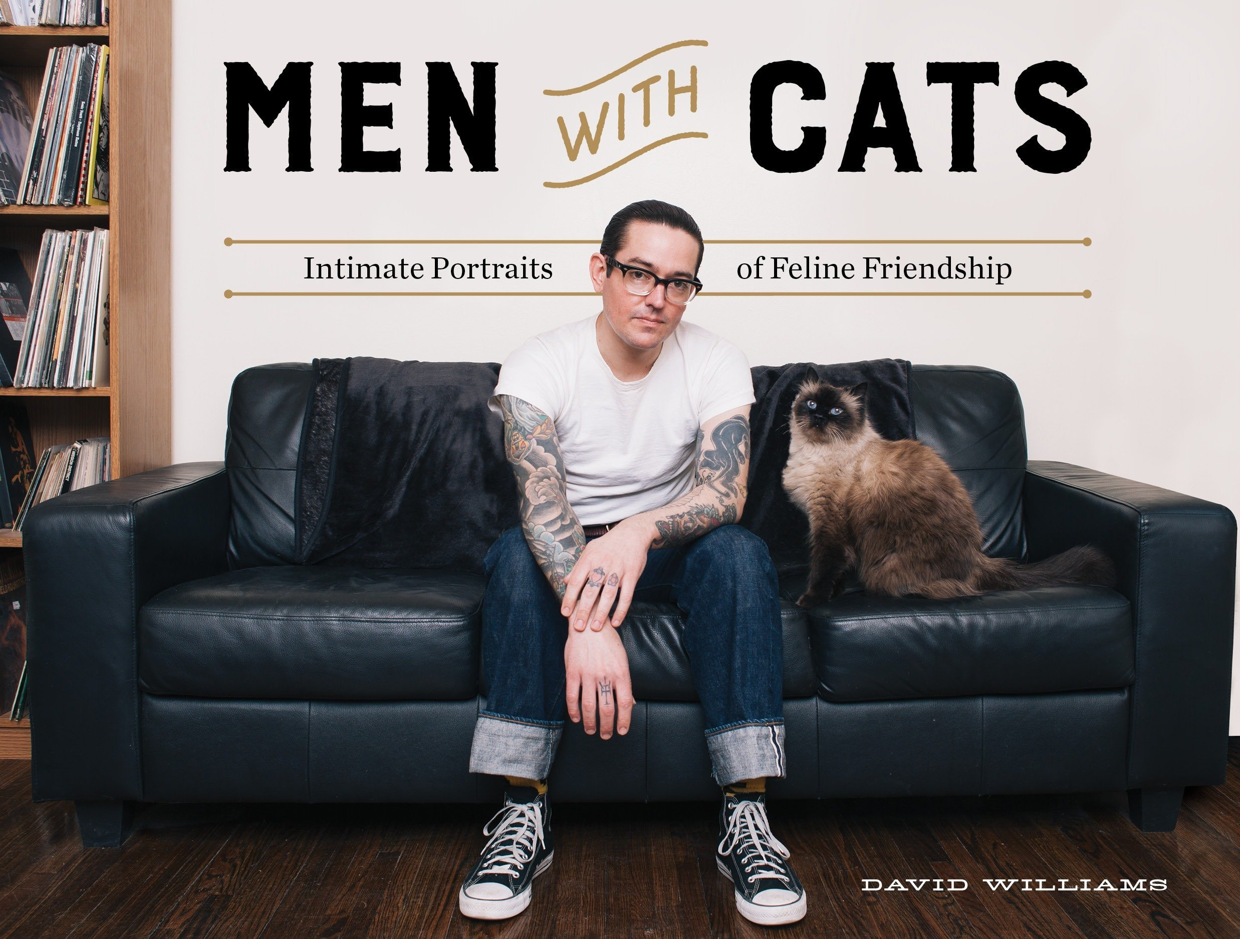 Men with cats : intimate portraits of feline friendship